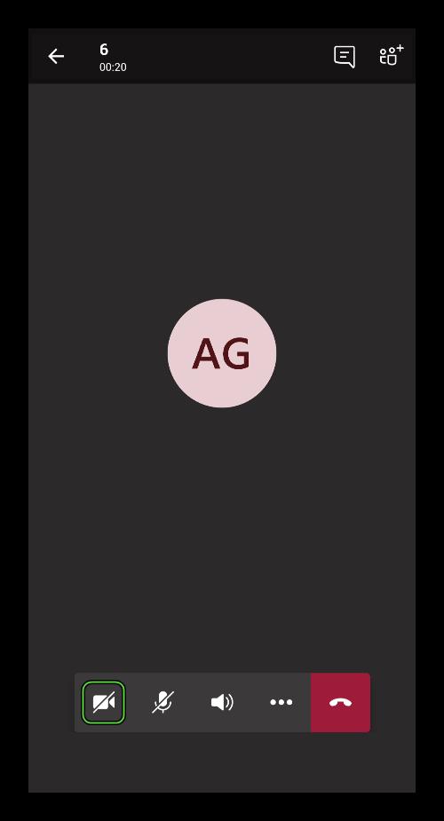 Иконка для включения камеры в собрании в приложении Microsoft Teams