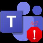 Код ошибки 4c7 в Microsoft Teams