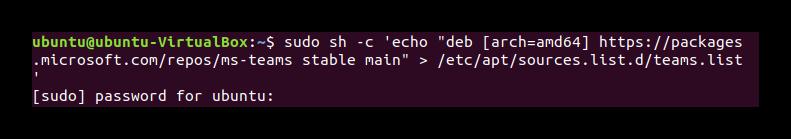 Команда echo в Терминале Ubuntu